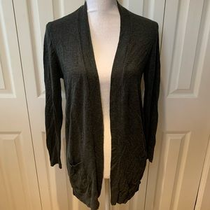 89Th & Madison Sheer Back Open Cardigan Sweater